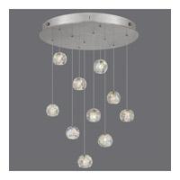 Fine Art Lamps 863540-106ST Natural Inspirations 10 Light 22 inch Silver Drop Light Ceiling Light