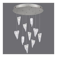 Fine Art Lamps 863540-108ST Natural Inspirations 10 Light 22 inch Silver Pendant Ceiling Light