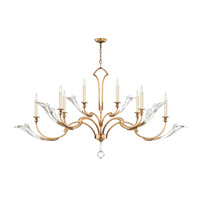 Fine Art Lamps Ice Sculpture 8 Light Chandelier in Gold Leaf 863640-2ST