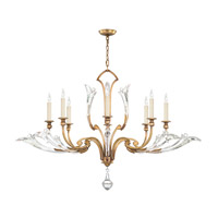 Fine Art Lamps Ice Sculpture 8 Light Chandelier in Gold Leaf 863740-2ST