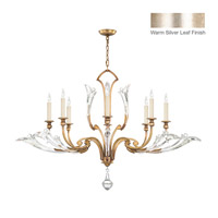 Fine Art Lamps Ice Sculpture 8 Light Chandelier in Silver Leaf 863740ST