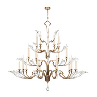 Ice Sculpture 20 Light 68 inch Gold Leaf Chandelier Ceiling Light