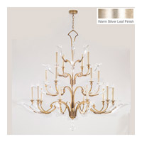 Ice Sculpture 20 Light 68 inch Silver Leaf Chandelier Ceiling Light