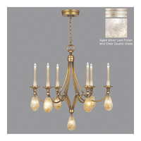 Quartz and Iron 13 Light 30 inch Aged Silver Leaf Chandelier Ceiling Light