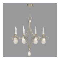 Fine Art Lamps Quartz and Iron 17 Light Chandelier in Aged Silver Leaf 864440-11ST