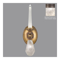 Fine Art Lamps Quartz and Iron 2 Light Wall Sconce in Bronze 864550-31ST