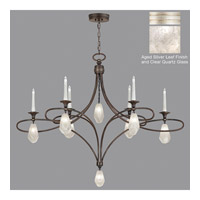 Fine Art Lamps Quartz and Iron 14 Light Chandelier in Aged Silver Leaf 864640-11ST