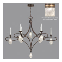 Fine Art Lamps Quartz and Iron 14 Light Chandelier in Florentine Gold Leaf 864640-21ST