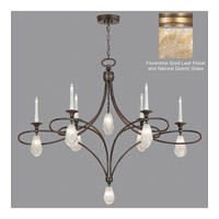 Fine Art Lamps Quartz and Iron 14 Light Chandelier in Florentine Gold Leaf 864640-22ST