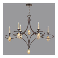 Fine Art Lamps Quartz and Iron 14 Light Chandelier in Bronze 864640-32ST