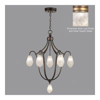Fine Art Lamps Quartz and Iron 8 Light Pendant in Gold Leaf 864740-21ST