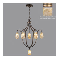 Fine Art Lamps Quartz and Iron 8 Light Pendant in Gold Leaf 864740-22ST