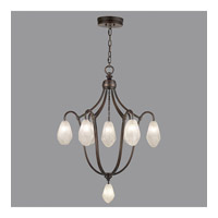 Fine Art Lamps Quartz and Iron 8 Light Pendant in Bronze 864740-31ST