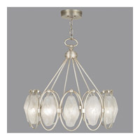 Fine Art Lamps Quartz and Iron 12 Light Pendant in Aged Silver Leaf 864840-11ST