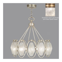 Fine Art Lamps Quartz and Iron 12 Light Pendant in Gold Leaf 864840-21ST