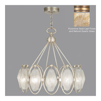 Fine Art Lamps Quartz and Iron 12 Light Pendant in Gold Leaf 864840-22ST