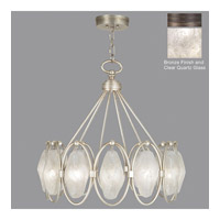 Fine Art Lamps Quartz and Iron 12 Light Pendant in Bronze 864840-31ST