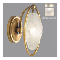 Quartz and Iron 1 Light 7 inch Aged Silver Leaf Wall Sconce Wall Light