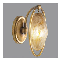 Quartz and Iron 1 Light 7 inch Florentine Gold Leaf Wall Sconce Wall Light