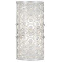 Fine Art Lamps 865250-12ST Hexagons 2 Light 7 inch Silver ADA Sconce Wall Light