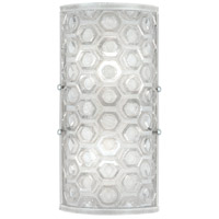 Fine Art Lamps 865250-22ST Hexagons LED 7 inch Silver Wall Sconce Wall Light