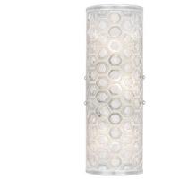 Fine Art Lamps 865450-12ST Hexagons 3 Light 7 inch Silver Wall Sconce Wall Light