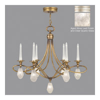 Fine Art Lamps Quartz and Iron 12 Light Chandelier in Aged Silver Leaf 867240-11ST