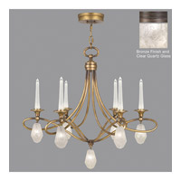 Fine Art Lamps Quartz and Iron 12 Light Chandelier in Bronze 867240-31ST