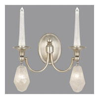 Fine Art Lamps Quartz and Iron 4 Light Wall Sconce in Aged Silver Leaf 867650-11ST