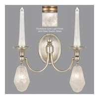 Fine Art Lamps Quartz and Iron 4 Light Wall Sconce in Florentine Gold Leaf 867650-21ST