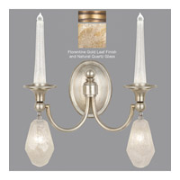 Fine Art Lamps Quartz and Iron 4 Light Wall Sconce in Florentine Gold Leaf 867650-22ST