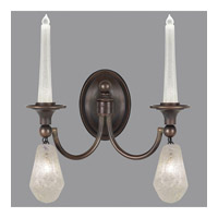 Fine Art Lamps Quartz and Iron 4 Light Wall Sconce in Bronze 867650-31ST