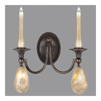 Fine Art Lamps Quartz and Iron 4 Light Wall Sconce in Bronze 867650-32ST