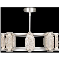 Allison Paladino LED 30 inch Silver Leaf Pendant Ceiling Light
