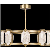 Allison Paladino LED 30 inch Gold Leaf Pendant Ceiling Light