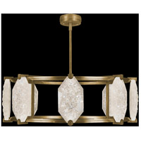 Allison Paladino LED 42 inch Gold Leaf Pendant Ceiling Light
