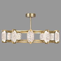 Fine Art Lamps 872940-2ST Allison Paladino LED 46 inch Gold Leaf Pendant Ceiling Light