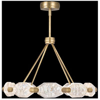 Allison Paladino LED 32 inch Gold Leaf Pendant Ceiling Light