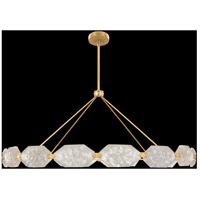 Allison Paladino LED 74 inch Gold Pendant Ceiling Light