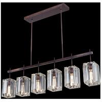 Fine Art Lamps 875240ST Monceau 6 Light 47 inch Bronze Chandelier Ceiling Light