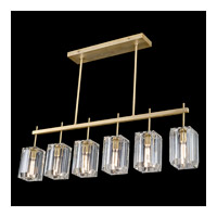 Monceau 6 Light 47 inch Gold Leaf Chandelier Ceiling Light