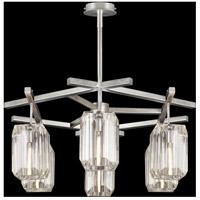 Fine Art Lamps 875340-1ST Monceau 6 Light 33 inch Silver Leaf Chandelier Ceiling Light