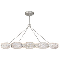 Allison Paladino LED 65 inch Silver Leaf Pendant Ceiling Light