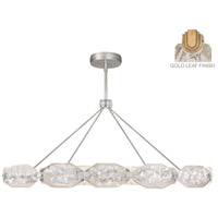 Allison Paladino LED 65 inch Gold Leaf Pendant Ceiling Light