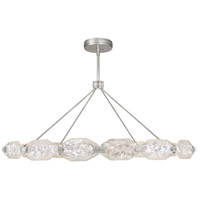Allison Paladino LED 56 inch Silver Leaf Pendant Ceiling Light