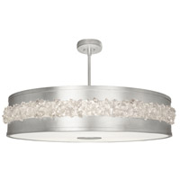Fine Art Lamps 876240ST Arctic Halo 3 Light 42 inch Silver Leaf Chandelier Ceiling Light