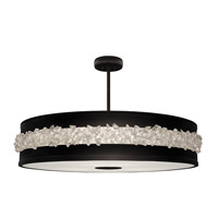 Fine Art Lamps 876240-2ST Arctic Halo 3 Light 42 inch Black Chandelier Ceiling Light