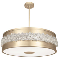 Fine Art Lamps 876340-1ST Arctic Halo 3 Light 32 inch Gold Chandelier Ceiling Light