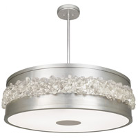 Fine Art Lamps 876340ST Arctic Halo 3 Light 32 inch Silver Chandelier Ceiling Light