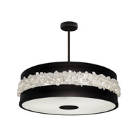 Fine Art Lamps 876340-2ST Arctic Halo 3 Light 32 inch Black Chandelier Ceiling Light